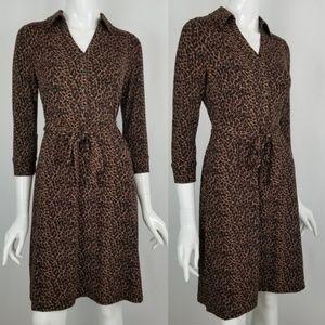 Talbots Leopard Print Dress